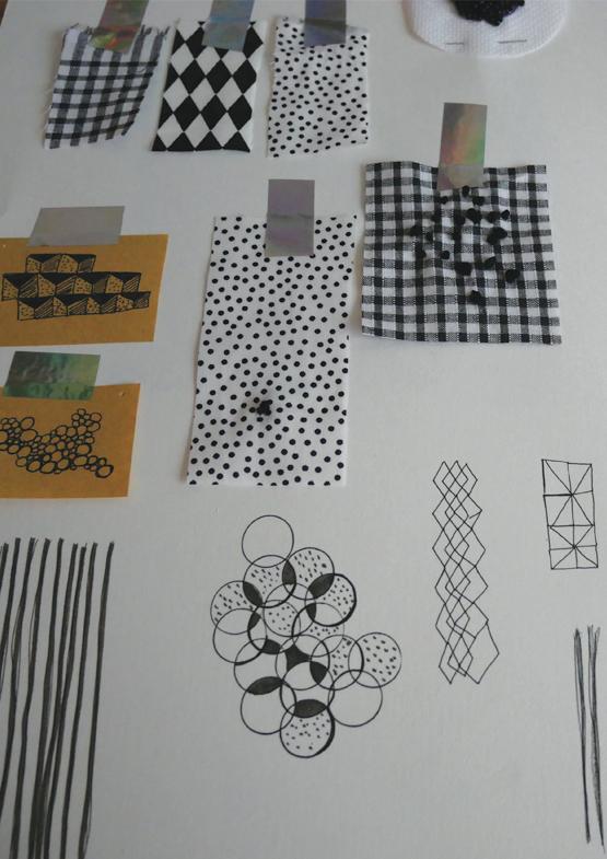 recherche motif et manipulation textile